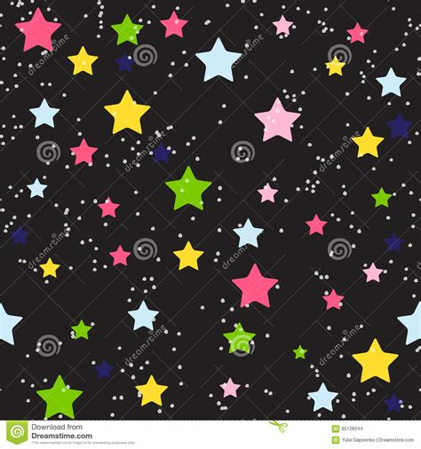 cute background pattern vector cute star seamless pattern background vector stock vector