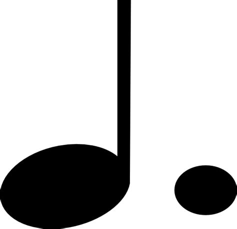 large printable quarter note dotted note clip art at clker com vector clip art online