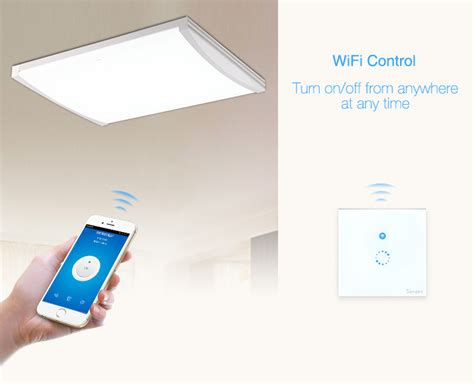 app controlled light switch sonoff touch wifi remote smart wall switch light switch