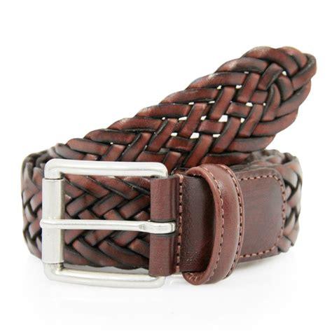 s brown braided leather belt af2984