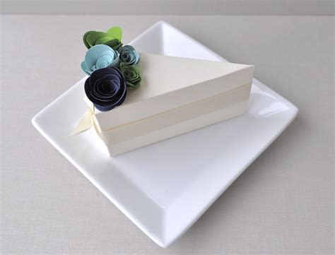 wedding cake boxes pictures chic ivory wedding guest favor boxes shaped like a slice
