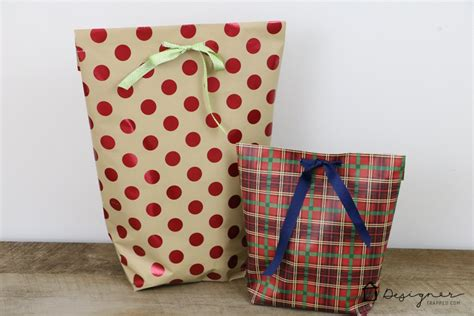 Gift Bags From Wrapping Paper - hometalk diy gift bags from wrapping paper