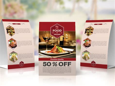 restaurant table tent card template free restaurant table tent template by ess graphic
