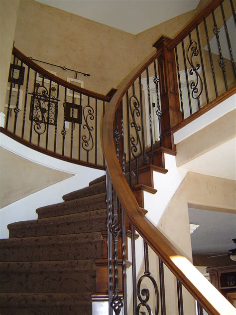 wrought iron banister jt house remodel