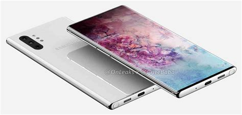 samsung galaxy note 10 pro appears in renders with 6 75 inch screen four rear cameras phonedog