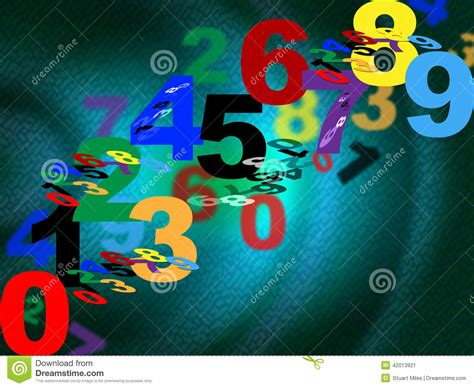 background design numbers counting maths means background design and numbers stock