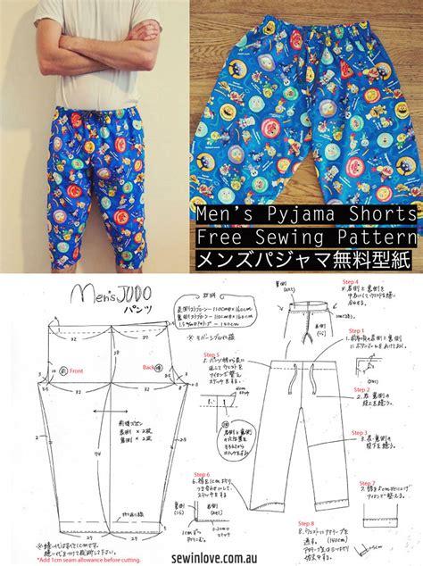 free sewing pattern mens jeans free mens pyjama pants sewing pattern tutorial メンズ パジャマ
