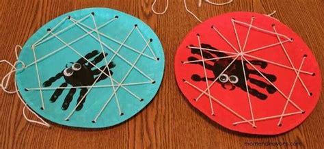 Paper Spider Craft - spider web paper plate craft preschool