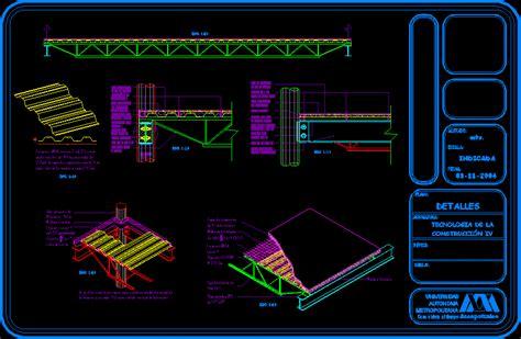 losacero details dwg detail  autocad designs cad