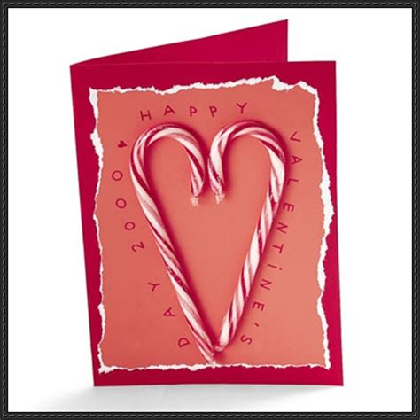 Canes Gift Card - valentine s day candy cane gift card paper craft tutorial