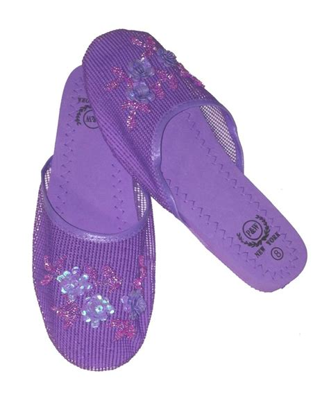 mesh slippers brand new mesh floral sequined slippers size 6
