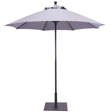 Aluminum Patio Umbrellas 7 5 Aluminum Commercial Patio Umbrella With Fiberflex Ribs