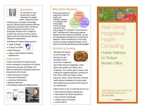 Wellness Brochure Veda Health Health Coach Brochure Templates