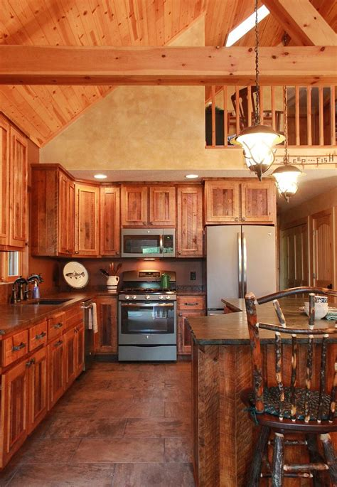 barnwood kitchen for log home this rustic kitchen is from a wisconsin log home these