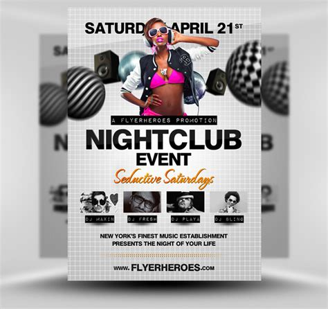 free club flyer templates photoshop nightclub psd flyer template by quickandeasy1 on