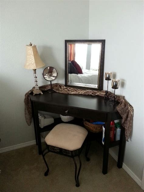 corner desk made into vanity vanities