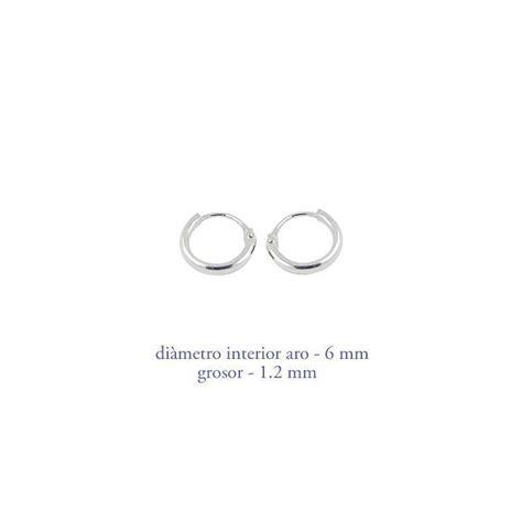 boucle d oreille argent anneau 6mm ar100 deni