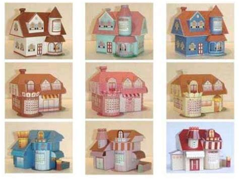 3d Paper Crafts Printable - 3d house template