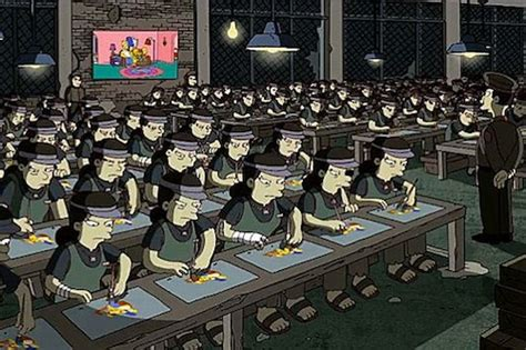 banksys simpsons animation sweatshop slur angers koreans london korean links