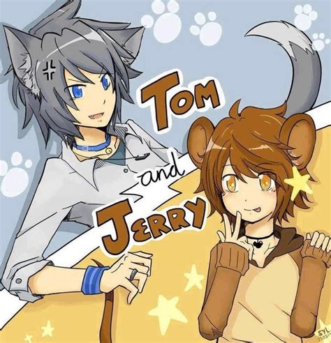 imagenes version anime anime version of tom and jerry crossover genderbend