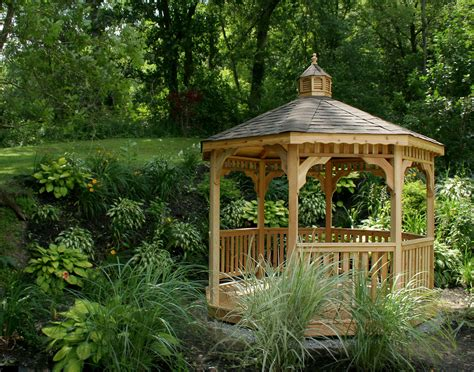 octagon gazebo customer s photo 10 cedar octagon gazebo