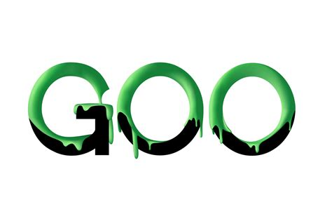 Goo by Rawz Typography Of The Word Goo With Goo All Over It I