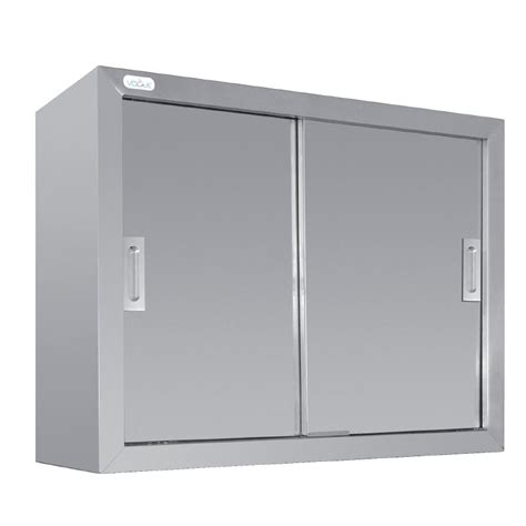 vogue stainless steel wall cupboard sliding doors kitchen