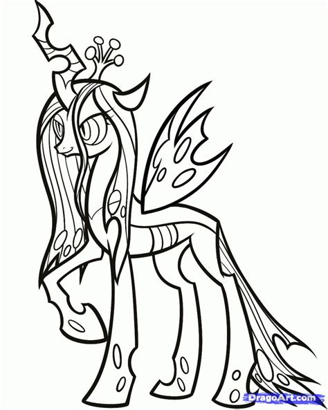 mlp queen chrysalis coloring page google search