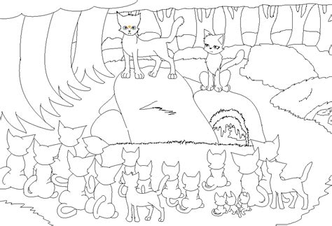 warrior cat clanbase free clan meeting lineart by xxlego chanxx on deviantart