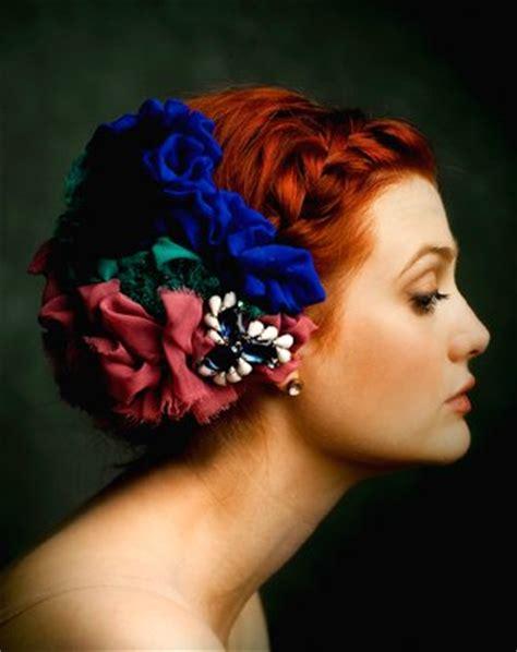 hair ban fabric flower hair accessory bitsy bride