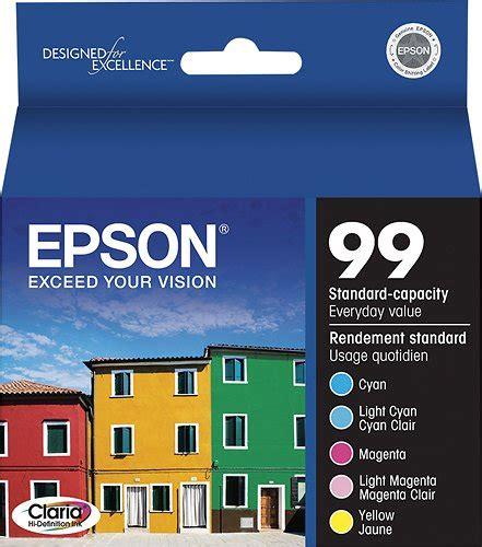 epson ink 99 light cyan epson 99 multipack standard capacity yellow cyan magenta