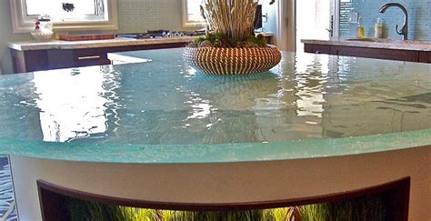 Pros And Cons Of Recycled Glass Countertops by The Kitchen Countertops Selection Guide