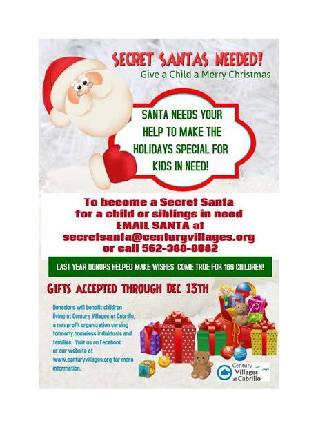 Century Villages At Cabrillo Page 2 Secret Santa Flyer Templates