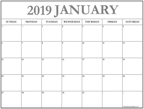 january 2019 calendar january 2019 calendar 51 calendar templates of 2019