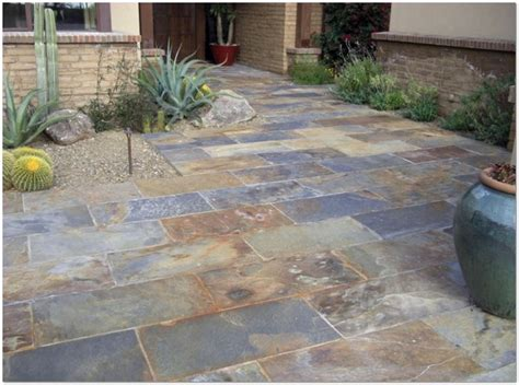 Slate Pavers For Patio Slate Patio Tiles Home Design Ideas And Pictures