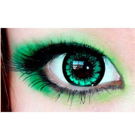 Leora Slit eos magic king size green colored contacts circle