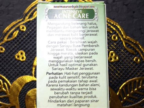 Berapa Harga Sariayu Intensive Acne Care sariayu intensive acne care