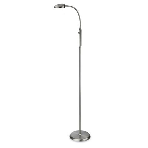 brushed steel floor l firstlight 8374bs 1 light brushed steel floor l