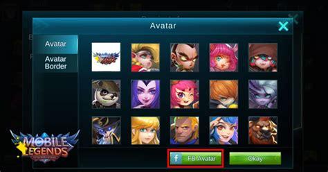 mobile legend fb how to set fb avatar in mobile legends mod mobile legend