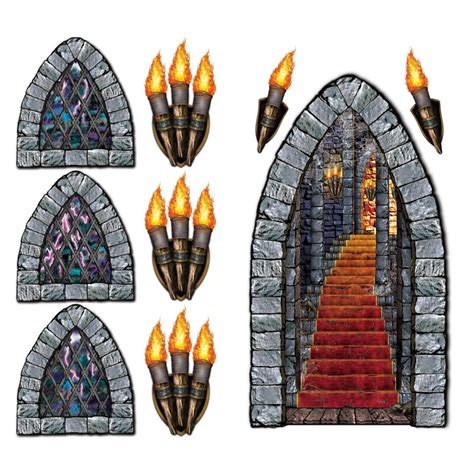 medieval decorations wicked medieval castle pack of 9 insta theme scene setters