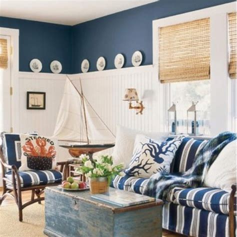 Decorating Ideas Nautical Living Room Tour De Coastal Design Tuvalu Home
