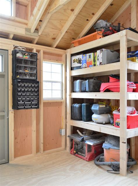 shed storage ideas  tons  added function