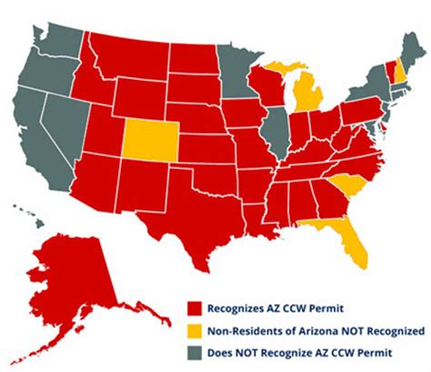 ccw map arizona reciprocity az ccw classes