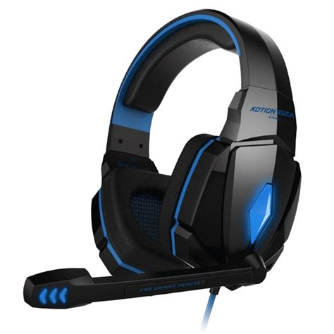 Kotion Headset Gaming Each Gs200 With Led Gamers Headphone Ktn Gs200 kotion each g4000 stereo gaming headphone headset headband