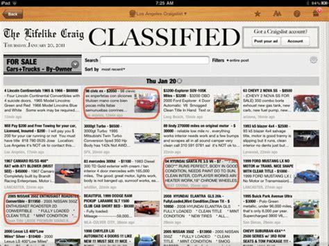 sections of a newspaper ipad app turns craigslist into a newspaper designtaxi com