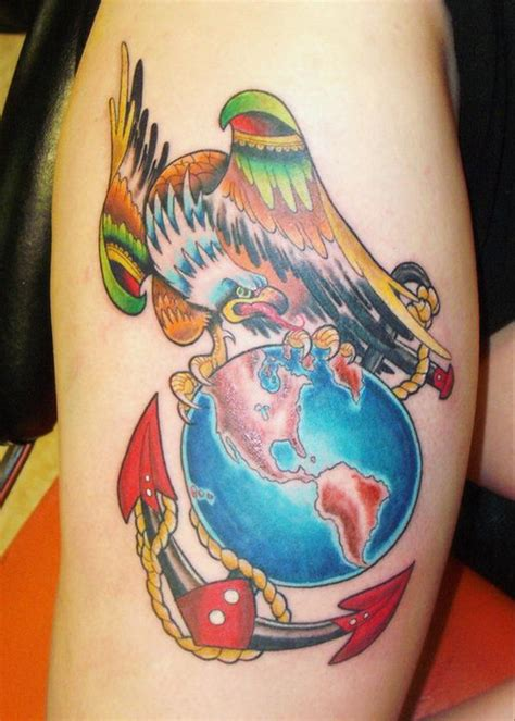 eagle globe and anchor tattoo 50 cool anchor designs and meanings hative