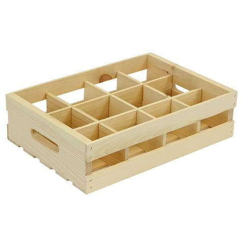 crates and pallet 12 grid wood crate divided insert