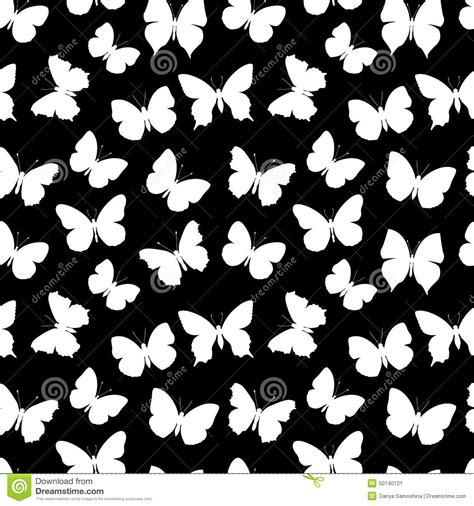 black and white butterfly pattern black and white seamless pattern butterfly stock