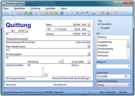 Word Vorlage Quittungsblock Keseling Quittung Freeware De