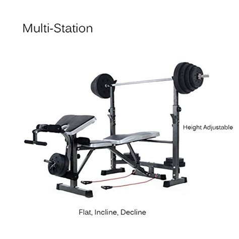 bench press sit up tomshoo adjustable multi station weight bench press